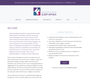 Obstructive Sleep Apnea Course